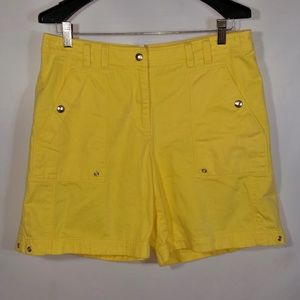 Denim Shorts Snap Button Pockets Jones NY Sport
